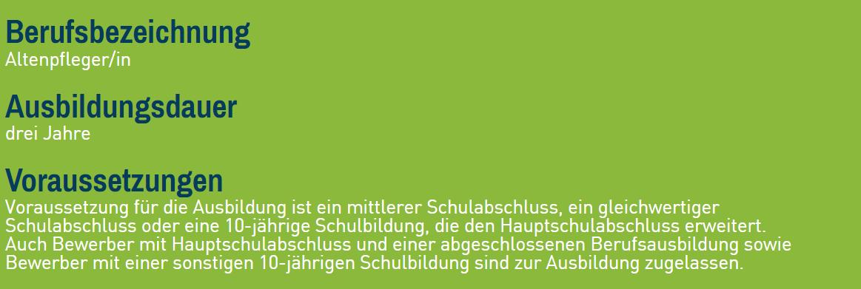 Altenpflege Steckbrief